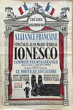 "ALLIANCE FRANCAISE THÉATRE D'AUJOURD'HUI    ""IONESCO"""