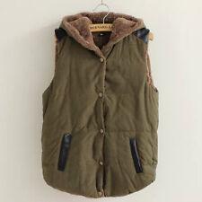 Womens Winter Warm Vest Hoodie Coat Sleeveless Jacket Hooded Slim Vest Waistcoat