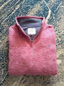 Fat Face Uk14 Ladies Zipper pink Fleece sweatshirt With Pockets