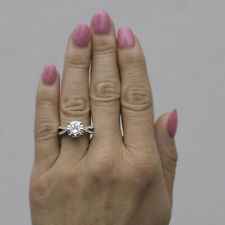 Moissanite by Charles & Colvard 9.0mm Round Engagement Ring-size 5, 2.92cttw DEW