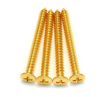 (4) Gotoh Gold Neck Plate Mounting Screws for Fender® Guitar/Bass GS-0005-002