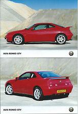 Alfa Romeo GTV 3.0 V6 Red Original Press Foto Photograph x 2 In the Quarry