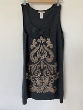 Nanette Lepore Wool Cashmere Embellished Sequin Dress Women's Medium Lambswool