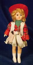 Vintage 7.5� Hard Plastic Cowgirl Doll Western Fringed Costume Hat Holster Bonus
