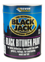 Everbuild 1, 2.5, 5 L 901 Black Bitumen Paint Black Jack Weatherproof Protection