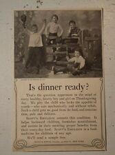 SCOTT'S EMULSION Bowne FOOD MEDICINE THANKSGIVING children OLD 1902 print AD