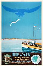 Affiche chemin de fer Etat - Ile d'Aix