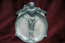 Art Nouveau Jugendstil Extremely RARE Pewter Tray Jennings Brothers Mfg 1890's