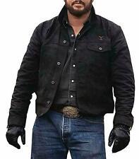 Men's Yellowstone Cole Hauser Rip Wheeler Stylish Cowboy Black Cotton Jacket