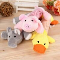 Soft Pet Puppy Chew Knot Play Squeaker Squeaky Cute Plush Sound For Dog Toy