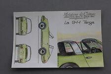 HB Miniatures château Carte postal PORSCHE La  911  targa collector 1/43 Heco
