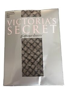 Victorias Secret's Glamour Sheers Faux Stringer Belgium Chocolate Small Hosiery