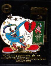 RARE PINS PIN'S .. OLYMPIQUE OLYMPIC ATLANTA 1996 USA MASCOTTE TORCHE COEUR ~16