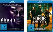 2 Blu-rays * THE PURGE - TEIL 1+2 ( DIE SÄUBERUNG + ANARCHY ) IM SET # NEU OVP +