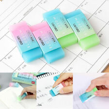 New Soft Durable Jelly Translucent Eraser Cute Colored Pencil Rubber School Kids