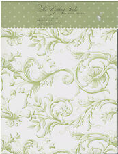 Print Your Own Wedding Programs Green Scrolling Paisley 25 Printer Paper New
