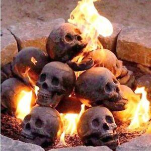 Realistic Skull Sculpture Fine Workmanship Halloween Fireproof  Skull Sculpture