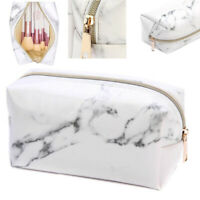 Marble Beauty Case Multi-Function Travel Box Make Cosmetic Zipper Bag Toiletry