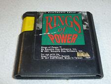 SEGA GENESIS GAME RINGS OF POWER CARTRIDGE ONLY RARE CART ELECTRONIC ARTS