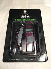 Premium Spark 4-in-1  Camo Multi-Tool Lighter Windproof