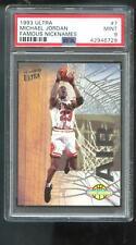 1993-94 Fleer Ultra Famous Nicknames Air Michael Jordan Insert PSA 9 Graded Card