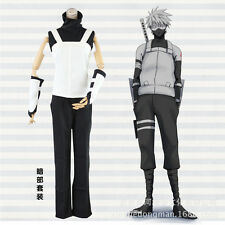 Naruto Shippuden Kakashi Anbu Halloween Party Suit Cosplay Costume X001