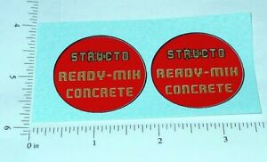 Structo Ready Mix Cement Truck Stickers          ST-116