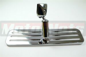 Rectangle Polished Billet Aluminum Rear View Mirror Ball Milled Chevy Ford Dodge