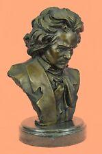 Art Deco Beethoven Bust Museum Quality Statue Figurine Bronze Sculpture Figurine