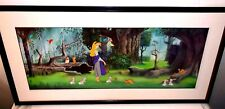 Disney Sleeping Beauty Cel Briar Rose In The Forest Rare Animation Art cell