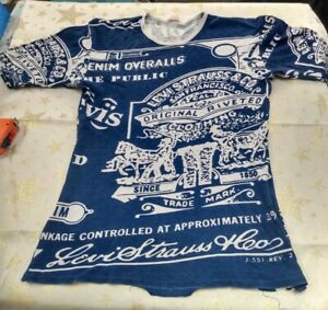 "Original Vintage 1980s Levi Strauss T-shirt 33""-34"" chest"