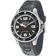 Orologio Uomo SECTOR 230 R3251161027 Silicone Grigio Nero Sub 100mt