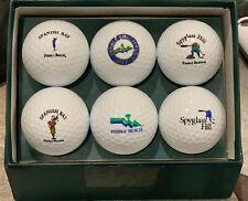 Pebble Beach Golf Links 6 Golf Ball Gift Set / Souvenir - Golden Ram Surlyn 392