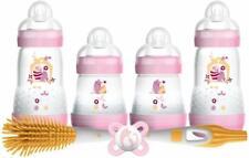 MAM Easy Start Newborn Self Sterilising Anti-Colic Feeding Bottle Set - Girl