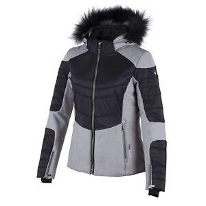CMP Ski Jacket Snowboard Jacket Snow Jacket Gray Hood Faux Fur Stretch