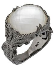 Stephen Webster Jewels Verne Women's Crystal Haze silver fishing ring size 7