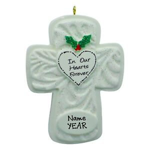 PERSONALIZED Ornament - In Our Hearts Forever - Memorial Christmas Ornament