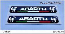 2x  ABARTH 3D Aufkleber Logo Sticker  Fiat 500 500C Uno Bravo Stilo Punto Lancia