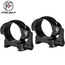 Fire Wolf Steel Weaver Rings 30MM Low Profile Black Matte Top Mount