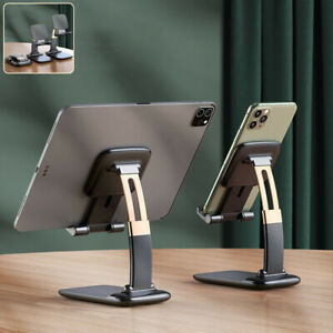 Foldable Desk Cell Phone Tablet Holder Stand Adjustable For iPhone 12 iPad Pro