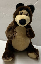 "Masha and the Bear 8.5"" Sitting Plush Teddy Bear Stuffed Animal"