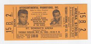 Muhammad Ali vs. Sonny Liston Full Ticket May 25, 1965 St Dominics Arena Sec. 15