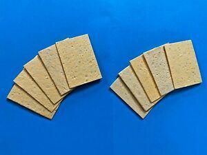 UK Small Soldering Iron Sponge Cleaning Pads Sponges Flux Solder Residue Cleaner