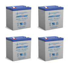 Power-Sonic 12V 5AH SLA Battery Replacement for Enduring 6-DW-5 - 4 Pack