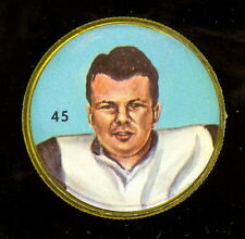 1963 CFL NALLEY'S POTATO FOOTBALL COIN #45 BRONKO NAGURSKI Hamilton Tiger Cats