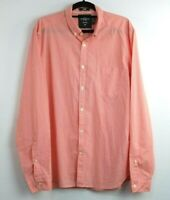 H&M Men's label of graded goods Long Sleeve Shirt Orange Pink Check Size M