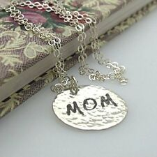 Mom Gift Necklace - Sterling Silver MOM Pendant - Gift From Daughter to Mother