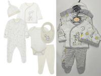 New Baby Boys Girls Unisex Neutral Cute Animals 6 Piece Layette Starter Set Gift
