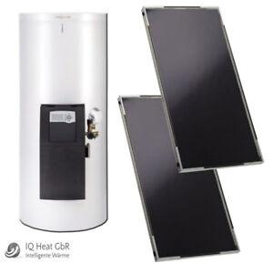 Viessmann Solaranlage Paket 4,36 m² Set - Vitosol 141-FM Vitocell 100-W weiß