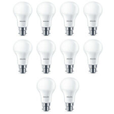 10x Philips LED Frosted B22 75w Warm White Bayonet Cap Light Bulbs Lamp 1055Lm